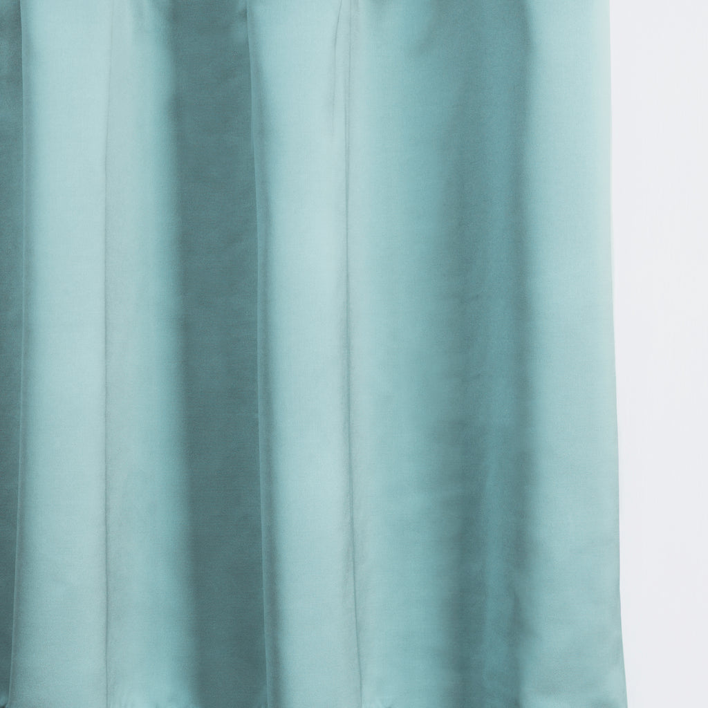 LUSTER - Satin semi sheer - Sage -extra long curtains - drapery - Loft Curtains