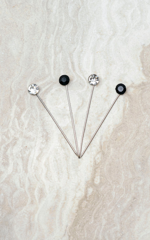 Straight Pin Set Black Orchid