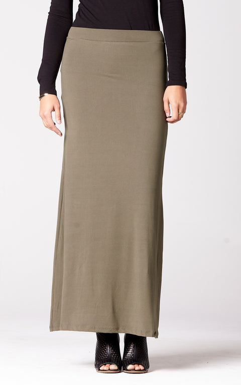 Pencil Skirt in Olive