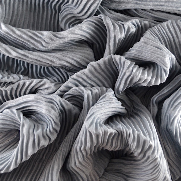 FRENCH GRAY  Pleated Viscose