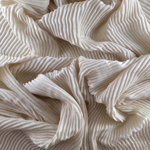 ECRU  Pleated Viscose