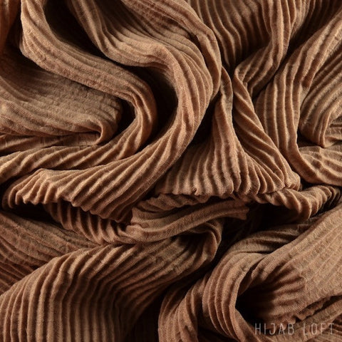 HAZELNUT  Pleated Viscose