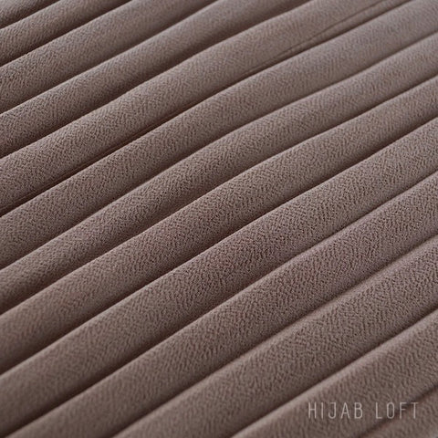 SIMPLY TAUPE  Pleated Chiffon
