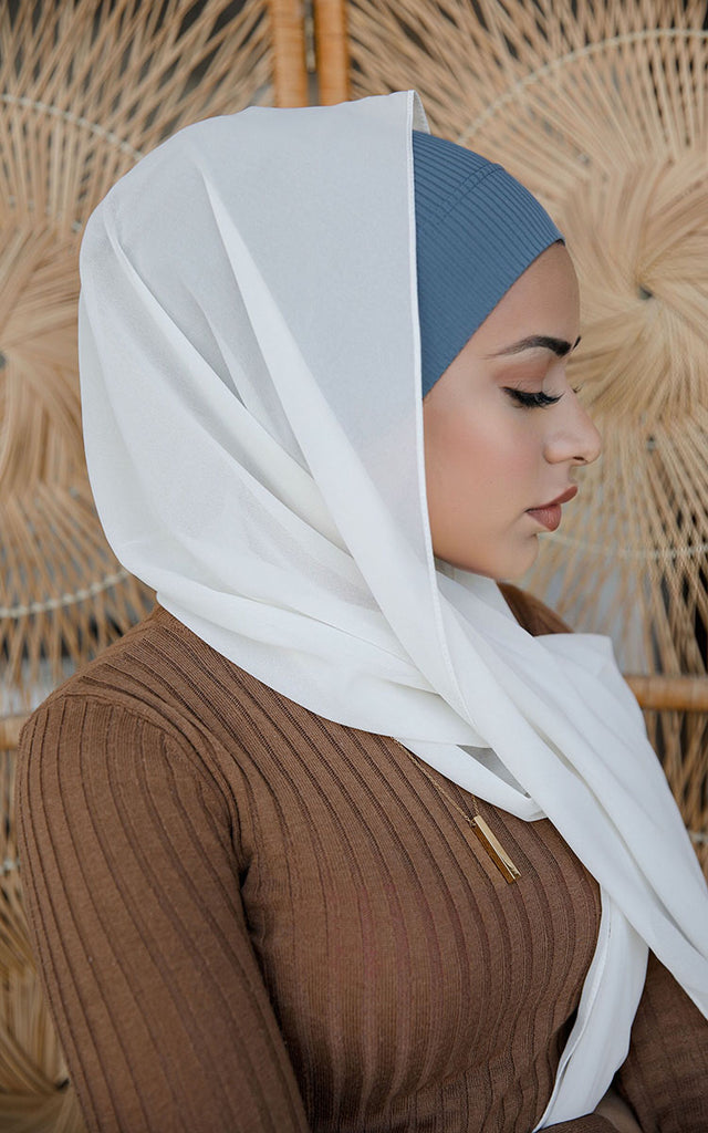 Ribbed Under Scarf Dusk