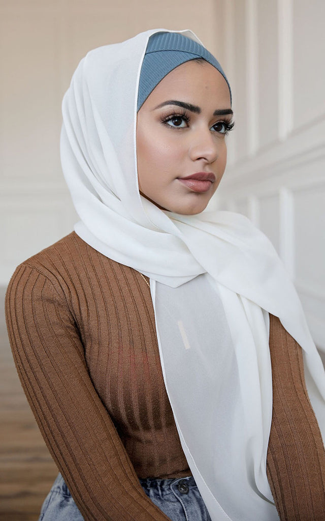 Ribbed Cross Front Under Scarf Dusk