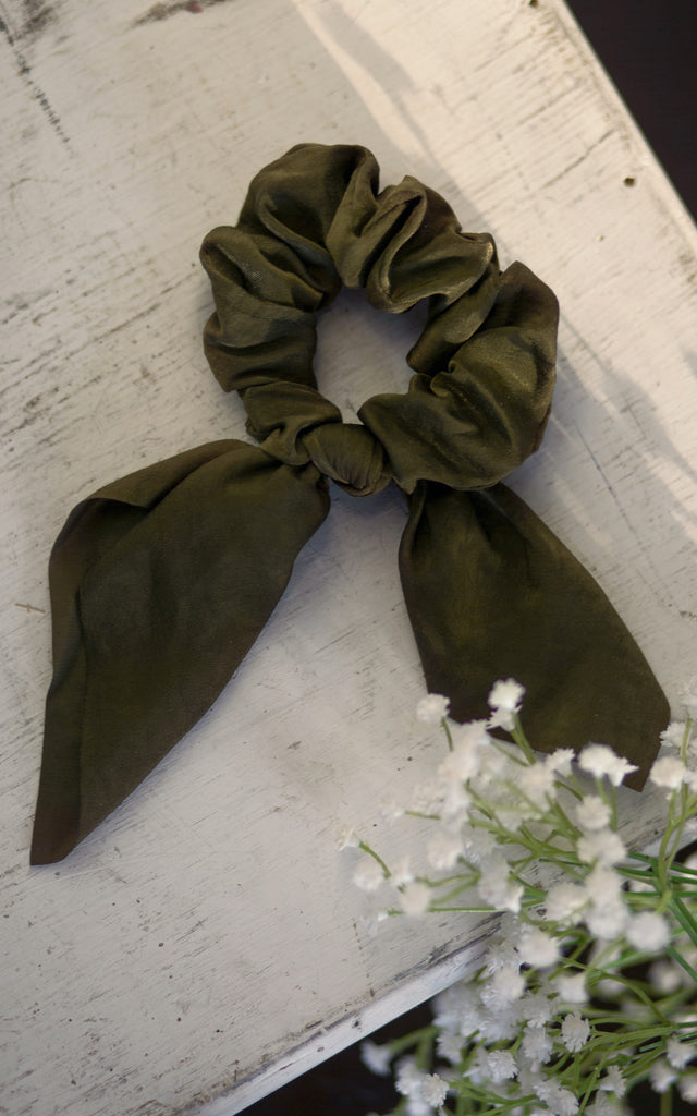 Bow Scrunchie OLIVE