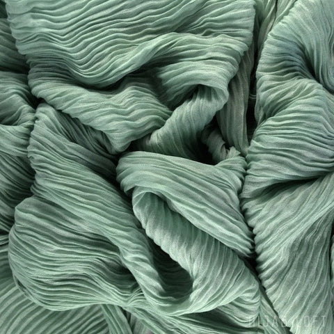 SEA GREEN  Pleated Viscose