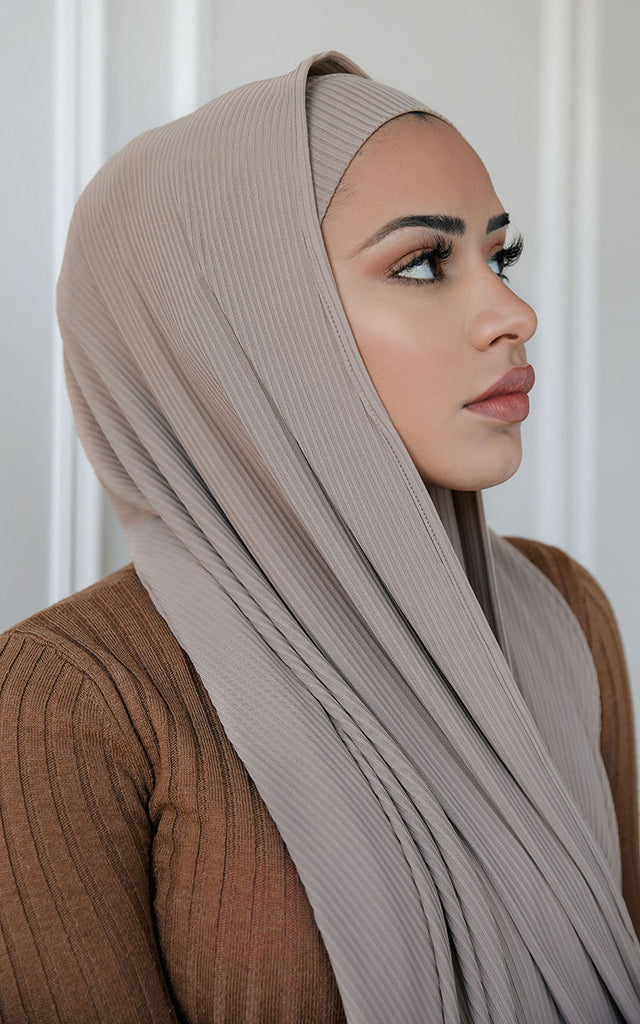 Ribbed Under Scarf Taupe