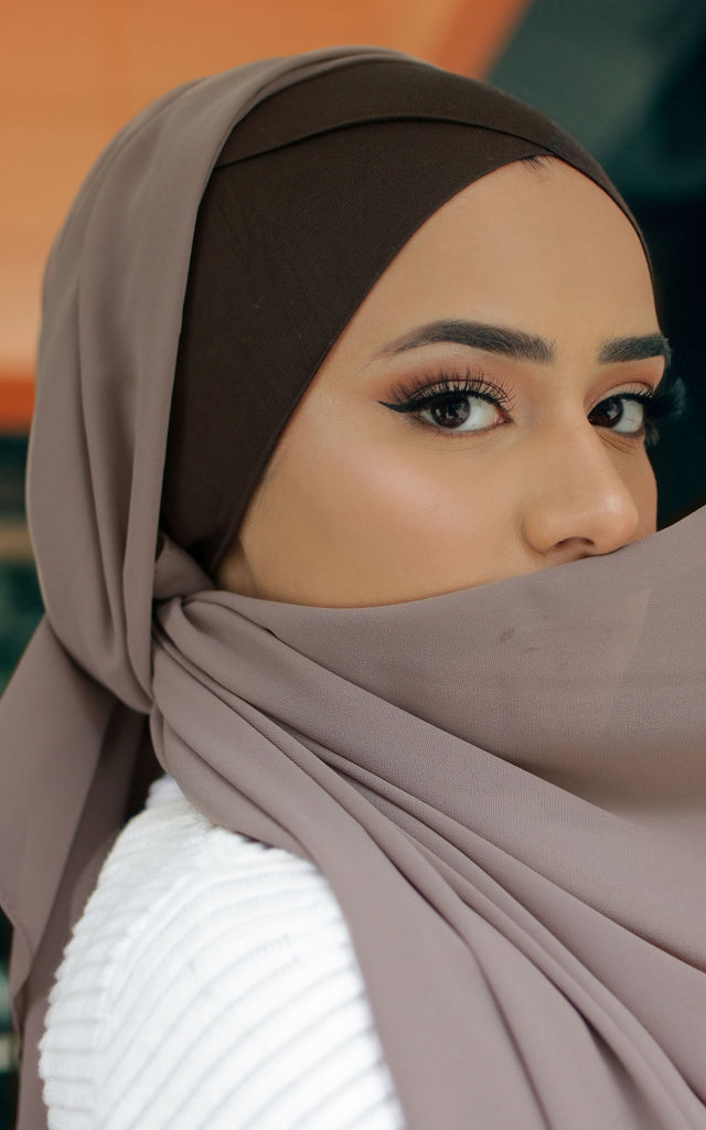 Cross Front Under Scarf Umber