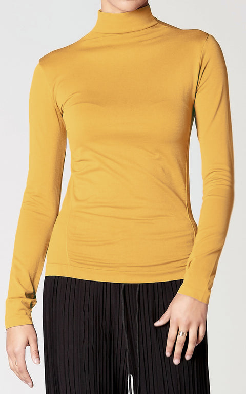 Control Fit High Neck Top in Tuscan