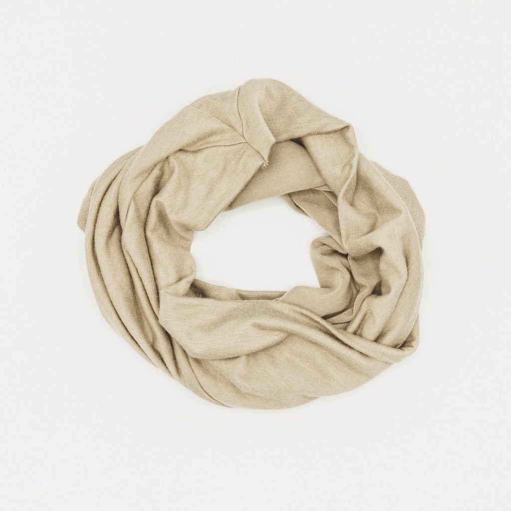 Cross Front Under Scarf Taupe