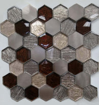 AL4563 - Hexagon Metallic Fabric Series - Veranda Tile & Decor
