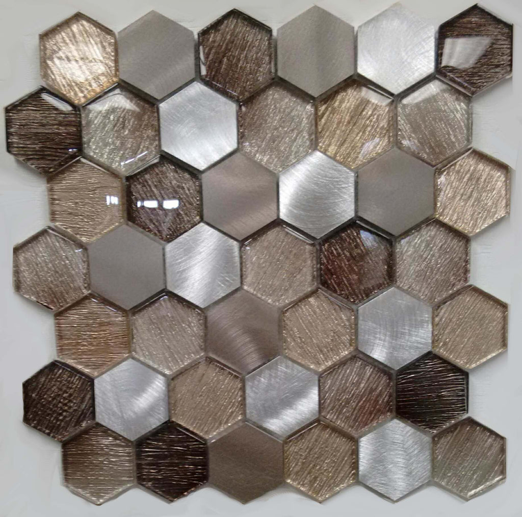 AL4564 - Hexagon Metallic Fabric Series - Veranda Tile & Decor