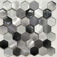 AL4565 - Hexagon Metallic Fabric Series - Veranda Tile & Decor
