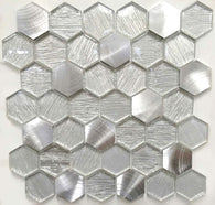 AL4586 - Hexagon Metallic Fabric Series - Veranda Tile & Decor