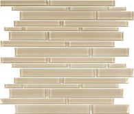 Earth Random Strip Glass Mosaics - 35-061 - Bliss Element Glass - Veranda Tile & Decor