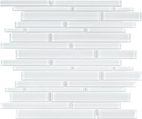 Ice Random Strip Glass Mosaics - 35-057 - Bliss Element Glass - Veranda Tile & Decor