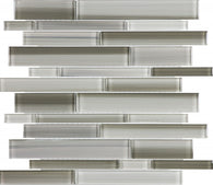 Clay Random Strip Glass Mosaics - 35-035 - Bliss Fusion - Veranda Tile & Decor