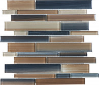 Erosion Random Strip Glass Mosaics - 35-034 - Bliss Fusion - Veranda Tile & Decor
