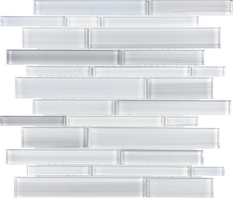 Ice Random Strip Glass Mosaics - 35-029 - Bliss Fusion - Veranda Tile & Decor