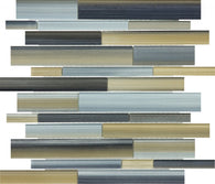 Oxide Random Strip Glass Mosaics - 35-031 - Bliss Fusion - Veranda Tile & Decor