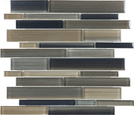 Rock Random Strip Glass Mosaics - 35-033 - Bliss Fusion - Veranda Tile & Decor