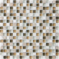 "5/8""X5/8"" Bamboo Blend Mosaics - 35-003 - Bliss Glass Stone - Veranda Tile & Decor"