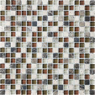 "5/8""X5/8"" Cabernet Blend Mosaics - 35-005 - Bliss Glass Stone - Veranda Tile & Decor"