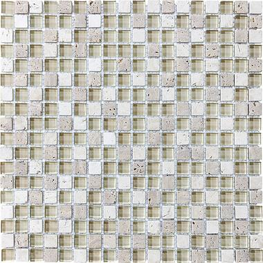 "5/8""X5/8"" Creme Brulee Blend Mosaics - 35-006 - Bliss Glass Stone - Veranda Tile & Decor"