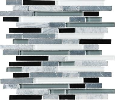 Midnight Linear Blend Mosaics - 35-012 - Bliss Glass Stone - Veranda Tile & Decor