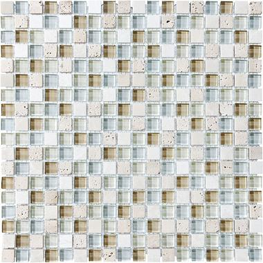 "5/8""X5/8"" Spa Blend Mosaics - 35-001 - Bliss Glass Stone - Veranda Tile & Decor"