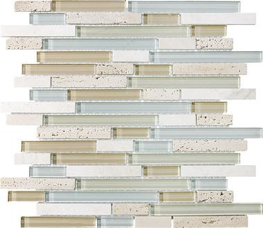 Spa Linear Blend Mosaics - 35-009 - Bliss Glass Stone - Veranda Tile & Decor