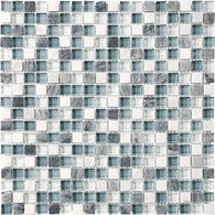 "5/8""X5/8"" Waterfall Blend Mosaics - 35-007 - Bliss Glass Stone - Veranda Tile & Decor"