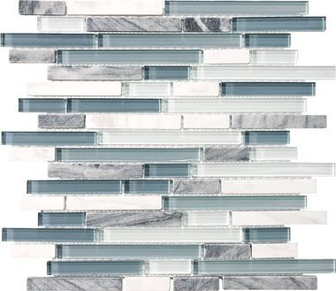 Waterfall Linear Blend Mosaics - 35-015 - Bliss Glass Stone - Veranda Tile & Decor