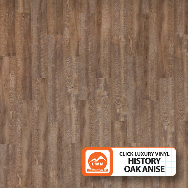 "History Oak Anise - Luxury Vinyl Plank Click (7""X48"") - 18.91 Sq.ft/Carton - <h2>$3.01 sf </h2> <h4>FREE SHIPPING*</h4> - Veranda Tile & Decor"