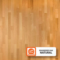 "Natural - 3.7"" X 3/8"" Engineered Oak (Smooth) - 23.76 Sq.ft/Carton - <h2>$4.09 sf </h2> <h4>FREE SHIPPING</h4> - Veranda Tile & Decor"