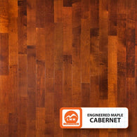"Cabernet - 5"" X 3/8"" Engineered Maple (Smooth) - 29.52 Sq.ft/Carton - <h2>$4.23 sf </h2> <h4>FREE SHIPPING</h4> - Veranda Tile & Decor"