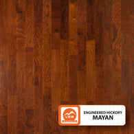 "Mayan - 5"" X 3/8"" Engineered Hickory (Smooth) - 29.52 Sq.ft/Carton - <h2>$4.23 sf </h2> <h4>FREE SHIPPING</h4> - Veranda Tile & Decor"