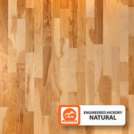 "Natural - 5"" X 3/8"" Engineered Hickory (Smooth) - 29.52 Sq.ft/Carton - <h2>$4.23 sf </h2> <h4>FREE SHIPPING</h4> - Veranda Tile & Decor"