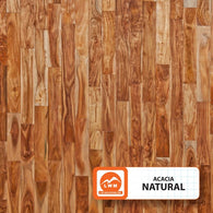 "Natural - 5"" X 3/8"" Engineered Wide Leaf Acacia (Hand-Scraped) - 49.76 Sq.ft/Carton - <h2>$3.94 sf </h2> <h4>FREE SHIPPING</h4> - Veranda Tile & Decor"