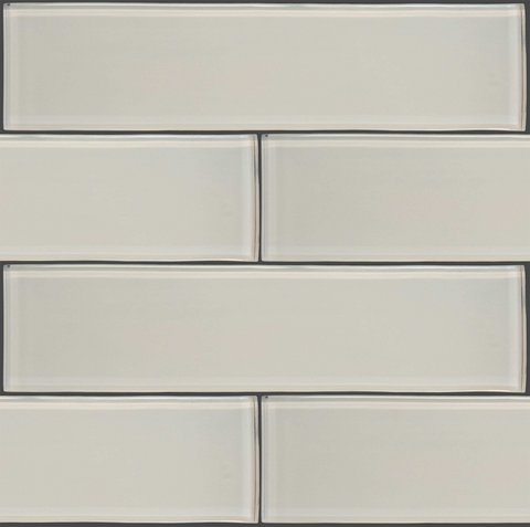 "GLAK300 - White 3""x12"" Glass Subway Tile - Veranda Tile & Decor"