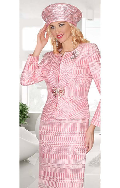 Lily & Taylor 3pc Pink Suit