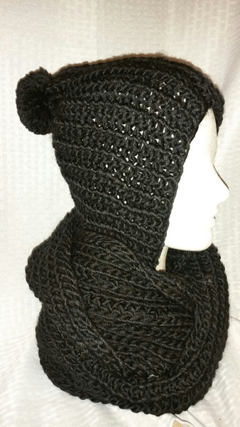 Crochet Scarf With Hood
