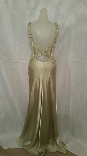 Golden V-Neck Gown