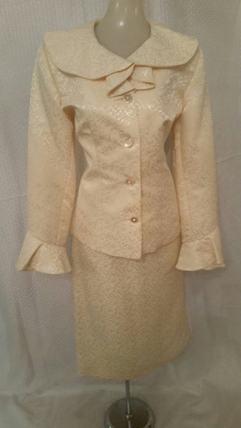 Cream Color 2 Piece Suit