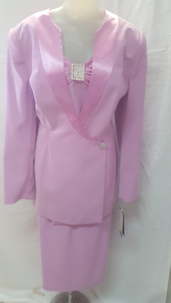 Champagne 3pc Pink Skirt Suit