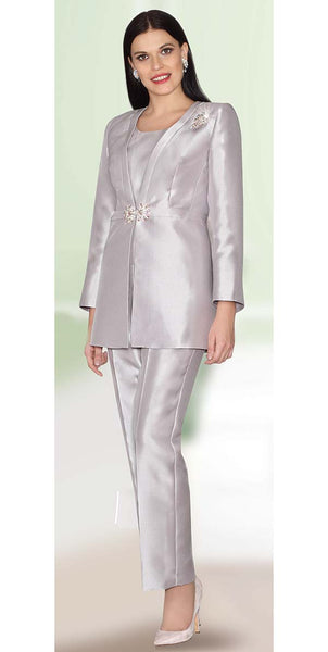 Lily & Taylor White Pant Suit