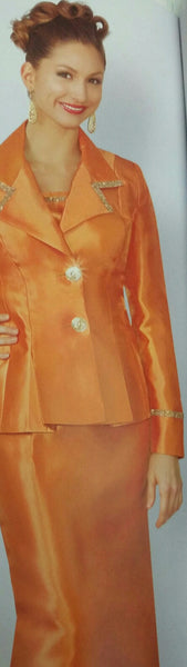 Silky Twill Orange Suit
