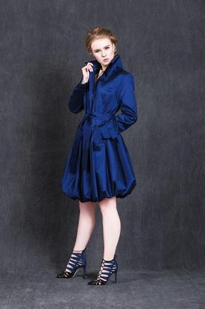 Blue Bubble Dress Rain Coat