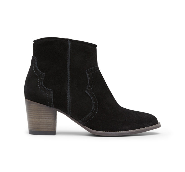 Janie mid heel suede ankle boot